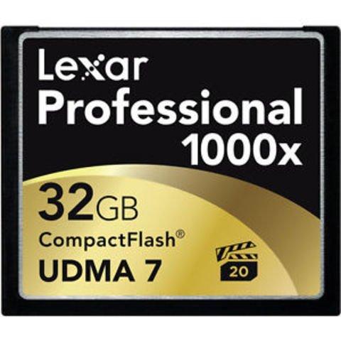 Lexar 32GB Professional 1000x CompactFlash Memory Card