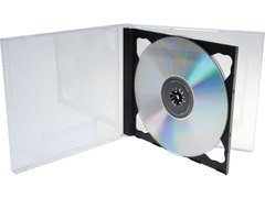 Double CD/DVD Jewel Case with Black Tray