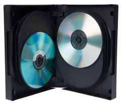 Evergreen 39mm 12 Disc DVD Case with Swing Trays- Black