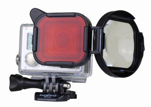 SwitchBlade3+ Red Filter/Macro Lens for HERO3