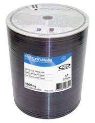 Falcon Media 52x CD-R White Inkjet Printable - 100 Discs