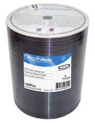 Falcon Media 52x CD-R White Thermal Printable - 100 Discs