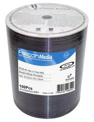 Falcon Media 16x DVD-R Smart White Inkjet Printable - 100 Discs
