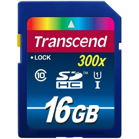 Transcend 16GB SDHC Class 10 UHS-I 300x (Premium)