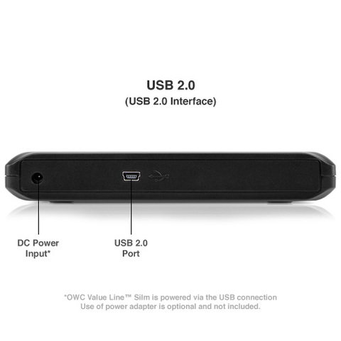 OWC  Slim 6X Portable USB 2.0 Blu-ray Burner