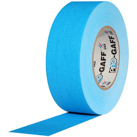 Pro-Tapes Pro-Gaffer 2 Inch Fluorescent Blue