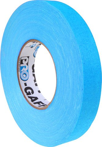 Pro-Tapes Pro-Gaffer 1 Inch Fluorescent Blue