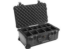 Pelican 1514 Carry On Case with Padded Dividers - Black