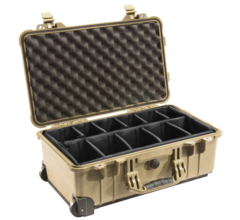 Pelican 1514 Carry On Case with Padded Dividers - Desert Tan