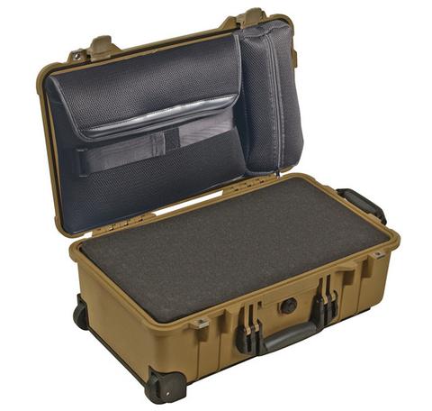 Pelican 1510LFC Laptop Overnight Case with Foam - Desert Tan
