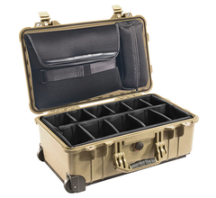Pelican 1510SC Studio Case with Padded Dividers - Desert Tan