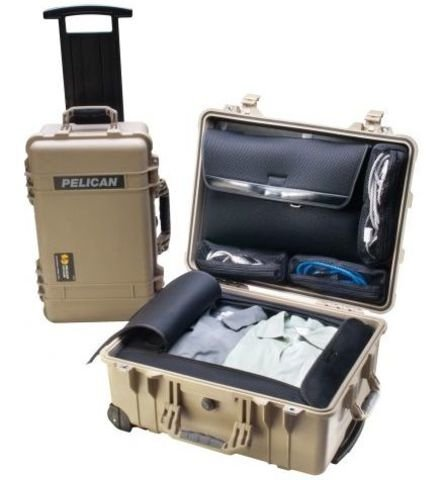 Pelican 1560LOC Laptop Overnight Case - Desert Tan
