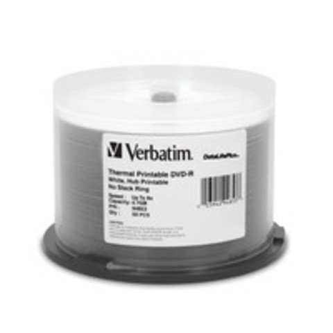 Verbatim 8x DVD-R White Thermal Printable - 50 Discs