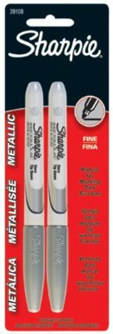 Sharpie Silver Metallic Fine Point Permanent Ink 2 pack