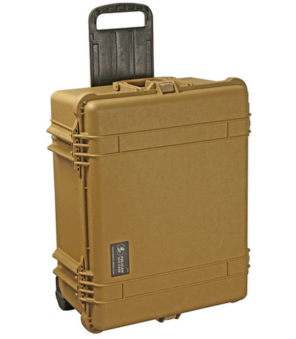 Pelican 1610NF Case (No Foam) - Desert Tan