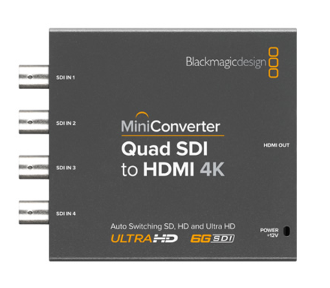 Blackmagic Design Mini Converter - Quad SDI to HDMI 4K