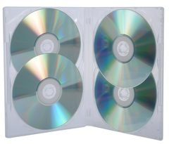 Evergreen Super Clear Quad DVD Case