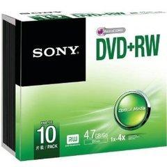 Sony 4x DVD+RW Logo Branded - 10 Discs