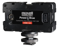 Maxell 12V/12W 3-Way Power Shoe Adapter - HSBM-12W (NP-F Type Battery Mount)