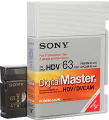 Sony Digital Master DVCAM No Chip PDV-64DM