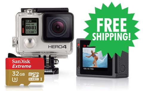 HERO4 Silver & SanDisk 32GB microSDHC card