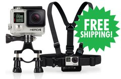 HERO4 Silver, Chest Harness Mount & Handlebar / Seatpost / Pole Mount