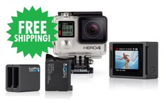 HERO4 Silver & Dual Battery Charger (with Rechargeable Battery)