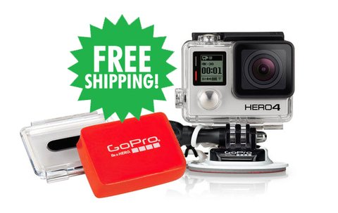 HERO4 Silver & Surfboard Mounts & Floaty Backdoor