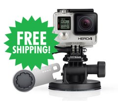 HERO4 Silver & Suction Cup Mount & The Tool