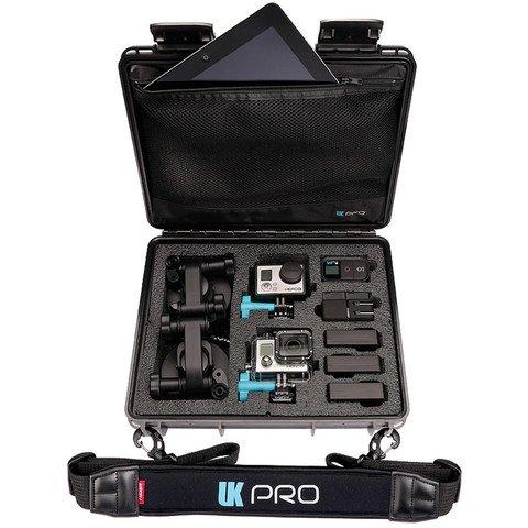 UK Pro POV40 Waterproof GoPro Hard Case with Shoulder Strap