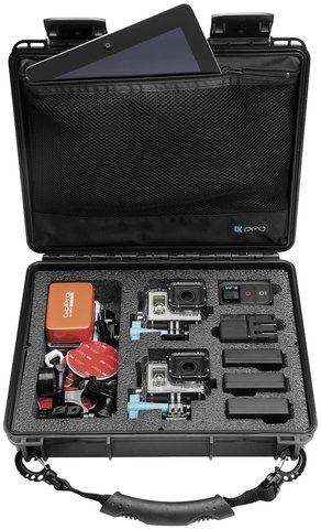 POV40 Waterproof GoPro Hard Case with Handle - Two Cameras