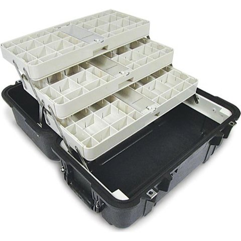 Pelican 1460EMS Case with Organizers and Dividers - Black