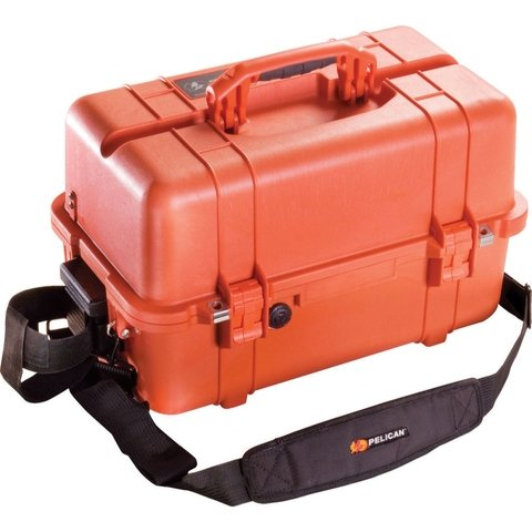 1460EMS Case with Organizers and Dividers - Orange