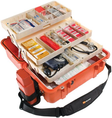 Pelican 1460EMS Case with Organizers and Dividers - Orange