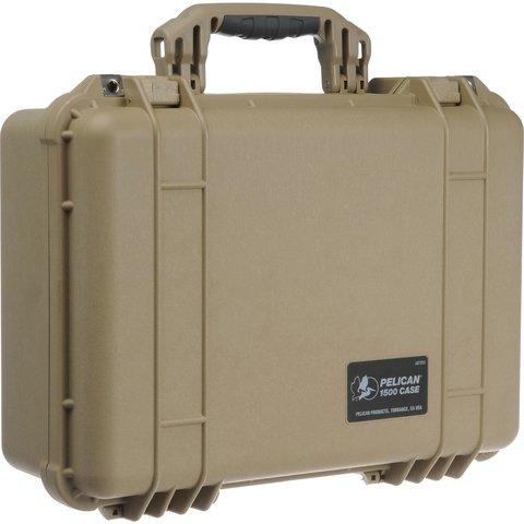 Pelican 1500 Case (No Foam) - Desert Tan