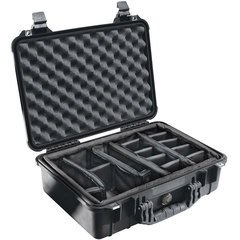 Pelican 1504 Case (1500 Case with Padded Dividers) - Black