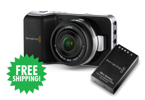 Blackmagic Design Pocket Cinema Camera + Spare Battery