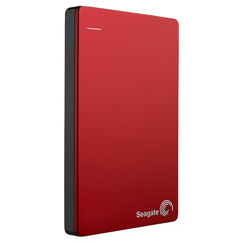 Seagate 1TB Backup Plus Slim Portable Drive - Red