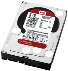 "Western Digital 6TB RED NAS Internal 3.5"" Hard Drive"