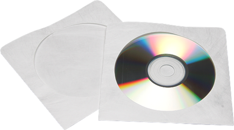 Polyline CD/DVD Tyvek Sleeve No flap