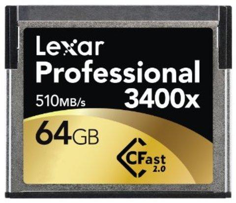 Lexar Professional 3400x 64GB CFast 2.0 Memory Card