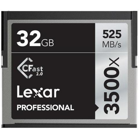 Lexar Professional 3500x 32GB CFast 2.0 Memory Card