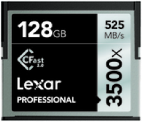 Professional 3500x 128GB CFast 2.0 Memory Card