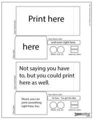Use these files to print stuff exactly where you want on a particular type of label.