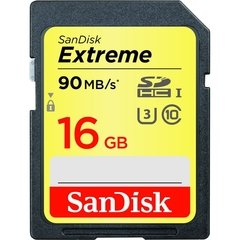 SanDisk Extreme 16GB SDHC Class 10/UHS-III Memory Card