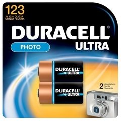 Duracell Ultra Lithium 123 Camera Battery - 2 pack