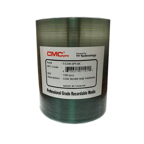 CMC Pro 52x CD-R Silver Thermal Everest Printable - 100 Discs