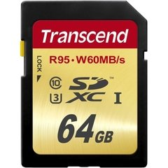 Transcend 64GB SDHX Class 10/UHS-I Memory Card
