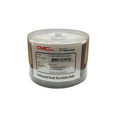 CMC Pro 16x DVD-R WaterShield White Inkjet Printable - 50 Discs