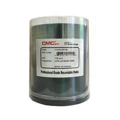 CMC Pro 52x CD-R Shiny Silver Hub Printable - 100 Discs